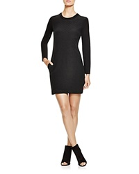Dkny Quilted Long Sleeve Dress Black