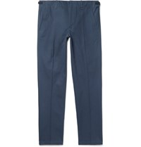 Maison Martin Margiela Blue Slim Fit Avio Cotton Twill Suit Trousers Blue