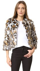 Moschino Faux Fur Jacket Leopard