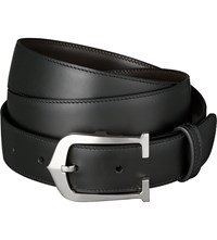 Cartier Elongated C Reversible Buckle Belt Black Brown