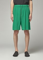 Homme Plisse Issey Miyake 'S Colorful Pleats Bottoms Short In Olympic Green Size 2 100 Polyester