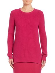Akris Punto Chunky Rib Knit Wool And Angora Sweater Pink Cliff