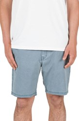 Volcom Men's Faded Hybrid Shorts Blue Air