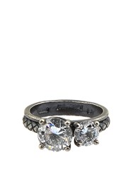 Bottega Veneta Cubic Zirconia And Silver Ring Crystal