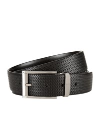 Canali Reversible Woven Leather Belt Unisex Multi