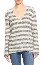 Women's Hinge Rib Knit V Neck Sweater