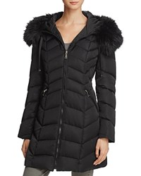 T Tahari Gwen Quilted Coat Black