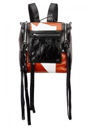 Mcq By Alexander Mcqueen Mini Black Leather Shoulder Bag Multicoloured