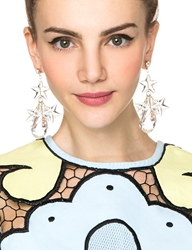 Pixie Market Superstar Crystal Statement Earrings
