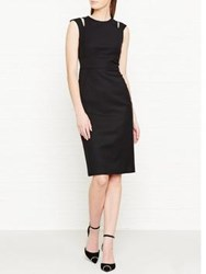 Lk Bennett L.K. Nelly Cold Shoulder Detail Dress Black
