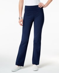 Style And Co Petite Bootcut Yoga Pants Only At Macy's Industrial Blue