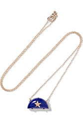 Andrea Fohrman Rainbow 14 Karat Gold Lapis Lazuli Necklace One Size