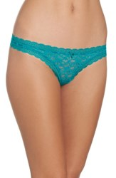 Free People Women's Intimately Fp Lace Thong Green