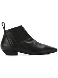 Marsell Square Toe Ankle Boots Black