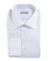 Stefano Ricci Contrast Collar Striped Dress Shirt