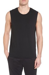 Alo Yoga 'S The Triumph Sleeveless T Shirt Solid Black Triblend
