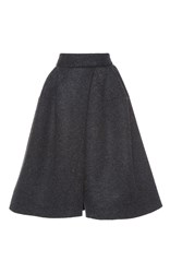 Dice Kayek Knee Length A Line Skirt Grey