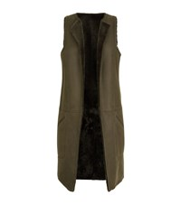Amanda Wakeley Reversible Shearling Gilet Female