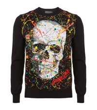 Philipp Plein Odd Printed Jumper Male Black
