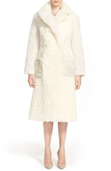 Vika Gazinskaya Women's Vika Gazinskya Colorblock Alpaca And Mohair Coat Pale Yellow