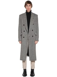 Ami Alexandre Mattiussi Double Breasted Wool Blend Coat Black