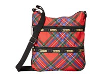 Le Sport Sac Kylie Cozy Plaid Red Handbags