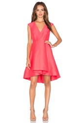 Halston High Low Dress Pink