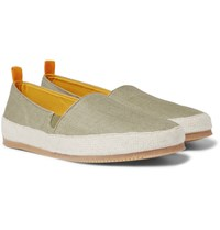 Mulo Linen Espadrilles Army Green