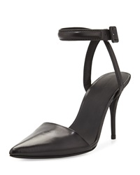 Alexander Wang Lovisa Leather Ankle Strap Pump Black