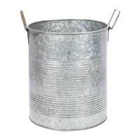 Amara Galvanised Tin Can Planter