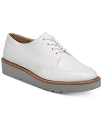 Naturalizer Auburn Platform Oxfords White