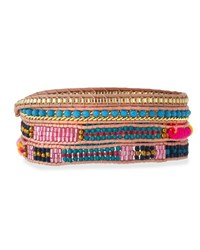 Nakamol Woven And Beaded Wrap Bracelet Multi