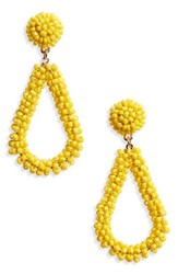 Panacea Bead Drop Earrings Yellow
