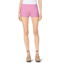 Michael Kors Gingham Wool Shorts Geranium