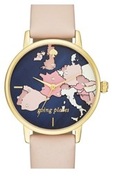 Kate Spade New York 'Metro' Leather Strap Watch 34Mm