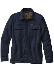Patagonia Insulated Fjord Flannel Men's Jacket Navy Blue