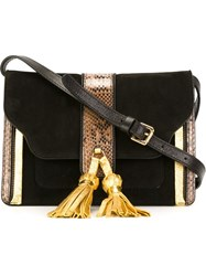 L'autre Chose Tassel Detail Shoulder Bag Black