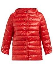 Herno Icons Elsa Quilted Down Jacket Red