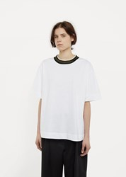 Marni Contrast T Shirt Lily White