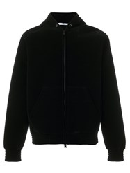 Givenchy Velour Zipped Hoodie Black