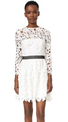 Cynthia Rowley Wild Flower Lace Dress White