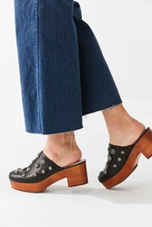Urban Outfitters Blair Embellished Wood Clog Black