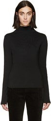 Haider Ackermann Black Stitch Sleeve Turtleneck