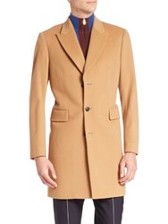 Paul Smith Single Breasted Wool And Cashmere Coat Camel