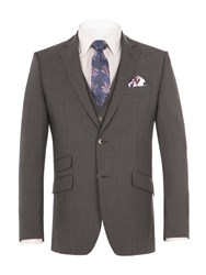 Alexandre Of England Men's Thames Charcoal Suit Jacket Charcoal