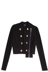 Anthony Vaccarello Officer Jacket Black