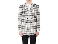 Thom Browne Men's Packable Cotton Poplin Jacket Light Grey