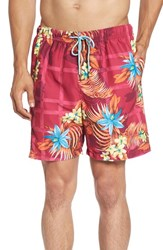 Tommy Bahama Men's 'Naples Lei Over' Swim Trunks Pink Papaya