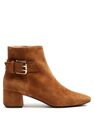 Tod's Suede Ankle Boots Tan