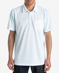 Quiksilver Men's Striped Approach Polo White